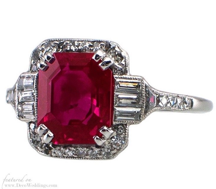Ruby Art Deco Jewelry
